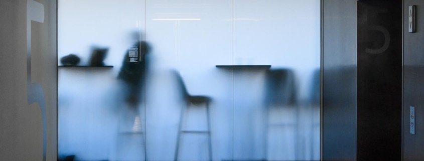 Frosted glass tinting